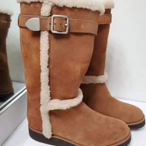 NEW Coach Sherpa lined suede boots size 8